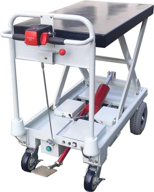 Electric Drive Amp Manual Pump Up Lift Cart