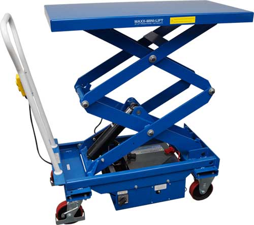 Portable Hydraulic Lift Cart : Manual push with electric lift carts