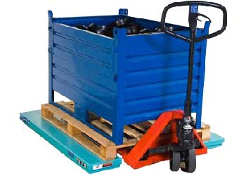 Loading with pallet jack