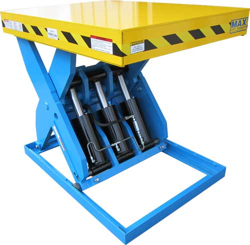 Heavy Duty Pneumatic Lift Arms : Max lift xl high capacity hydraulic tables