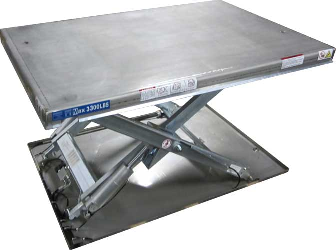 Stainless Guardian Low Profile Lift Table